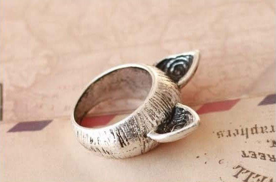 Meow Pointy Ears Vintage Ring - PitaPats.com
