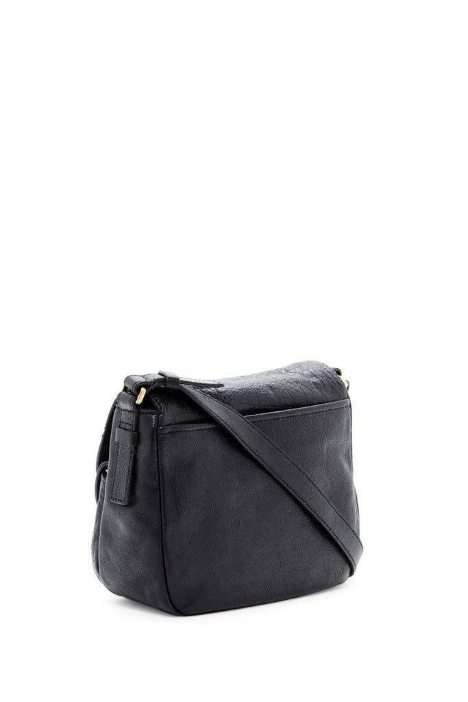 Fossil Peyton Small Double Flap Leather Crossbody - PitaPats.com