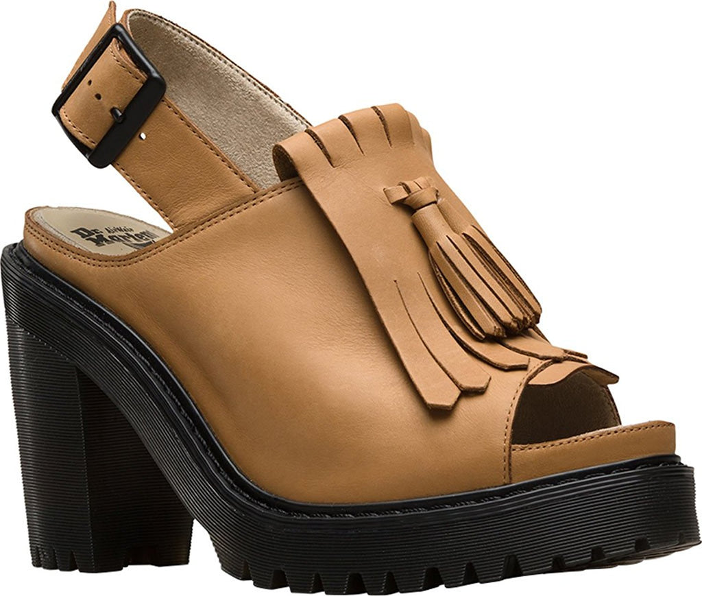 Dr. Martens Women's Seraphina Slingback Kiltie Leather, Rubber Fashion Sandals - PitaPats.com
