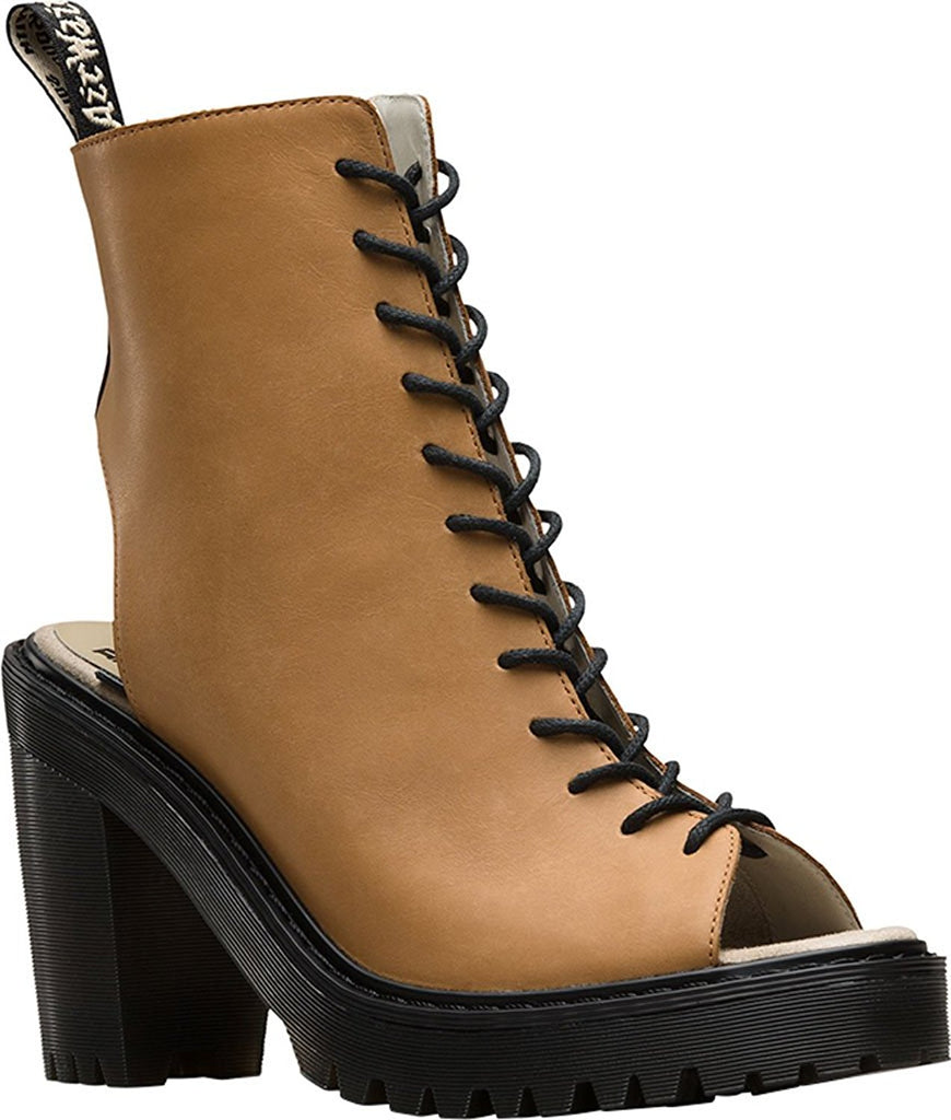 Dr. Martens Women's Carmelita Open Heel Lace Up Boots - PitaPats.com