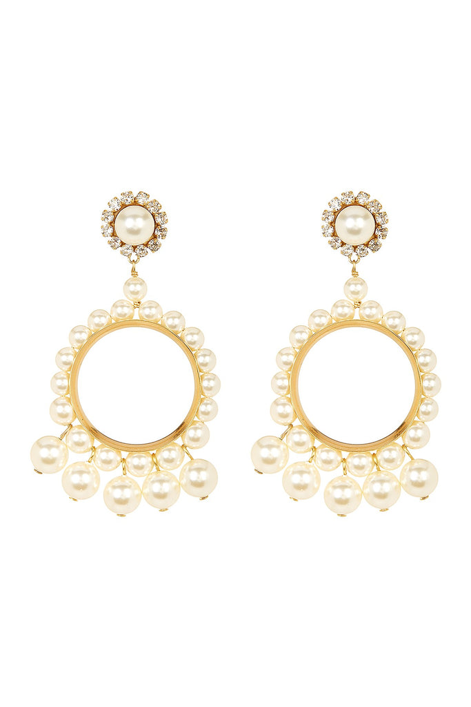 Marc Jacobs Faux Pearl Drop Earrings - PitaPats.com