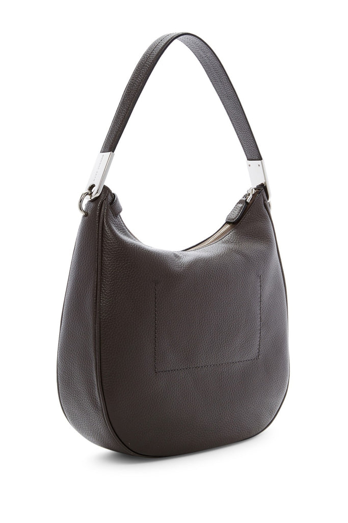 Marc Jacobs The Essential Leather Hobo - ALUMINUM - PitaPats.com