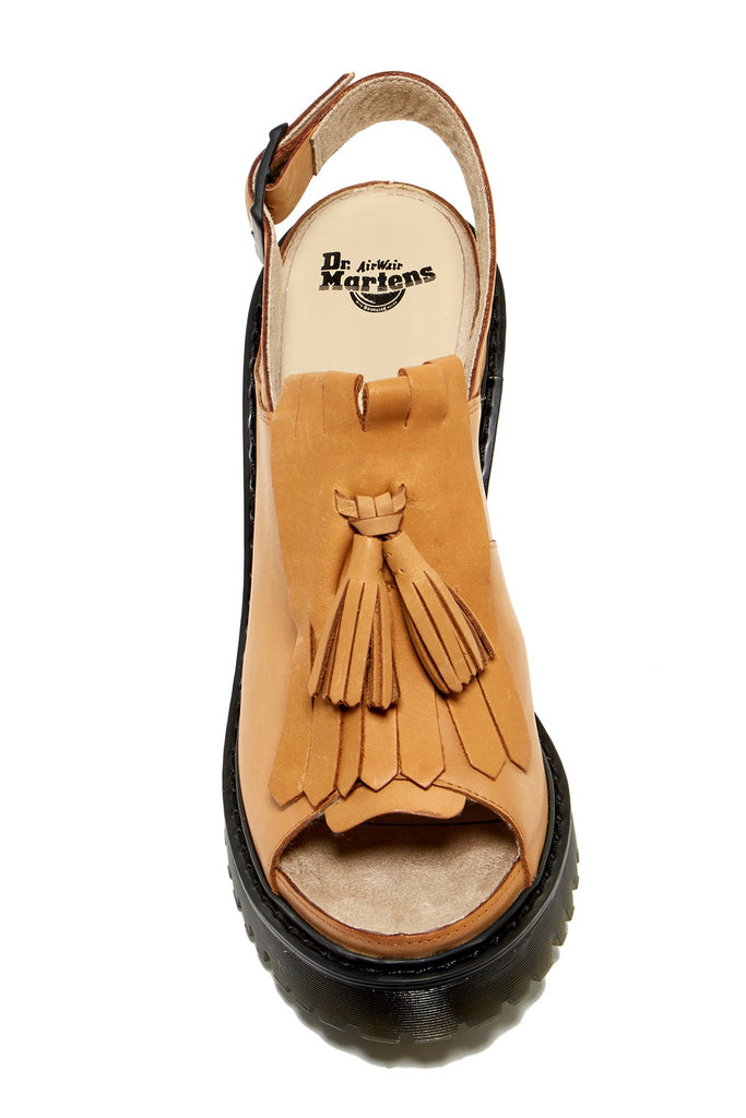 Dr. Martens Women's Seraphina Slingback Kiltie Leather, Rubber Fashion Sandals