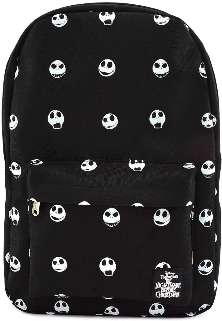 LOUNGEFLY X NIGHTMARE BEFORE CHRISTMAS AOP JACK HEAD NYLON BACKPACK