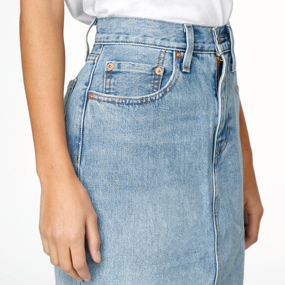 Levi's® Premium Premium Side Slit Skirt - Blue Waves