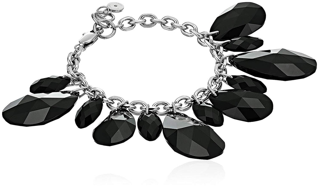 Michael Kors Womens Fashion Black Crystal Charm Statement Bracelet