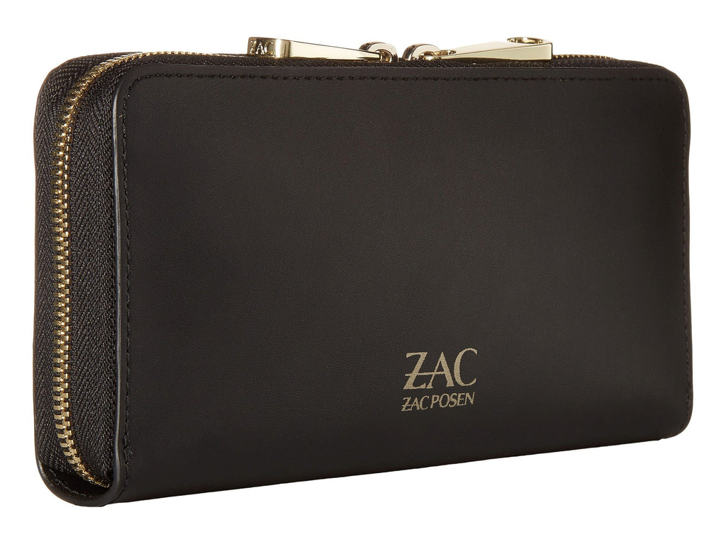 ZAC ZAC POSEN Earthette Checkbook Leather Wallet With Floral Applique - PitaPats.com