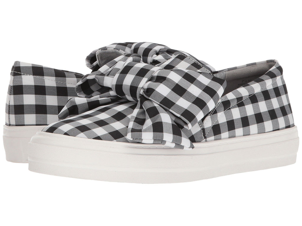 Nine West Onosha sneaker black/white plaid