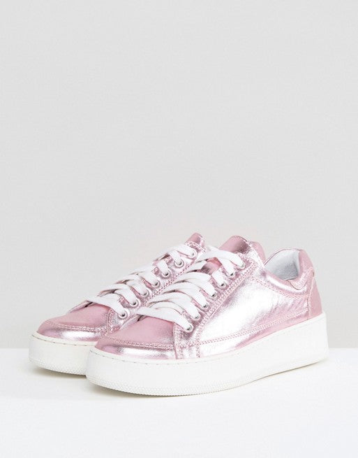 Free People Letterman Metallic Sneakers - PitaPats.com