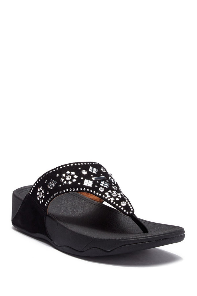 FITFLOP™ Women's Lulu Aztek Stud Toe-Thong Sandals-Suede - PitaPats.com