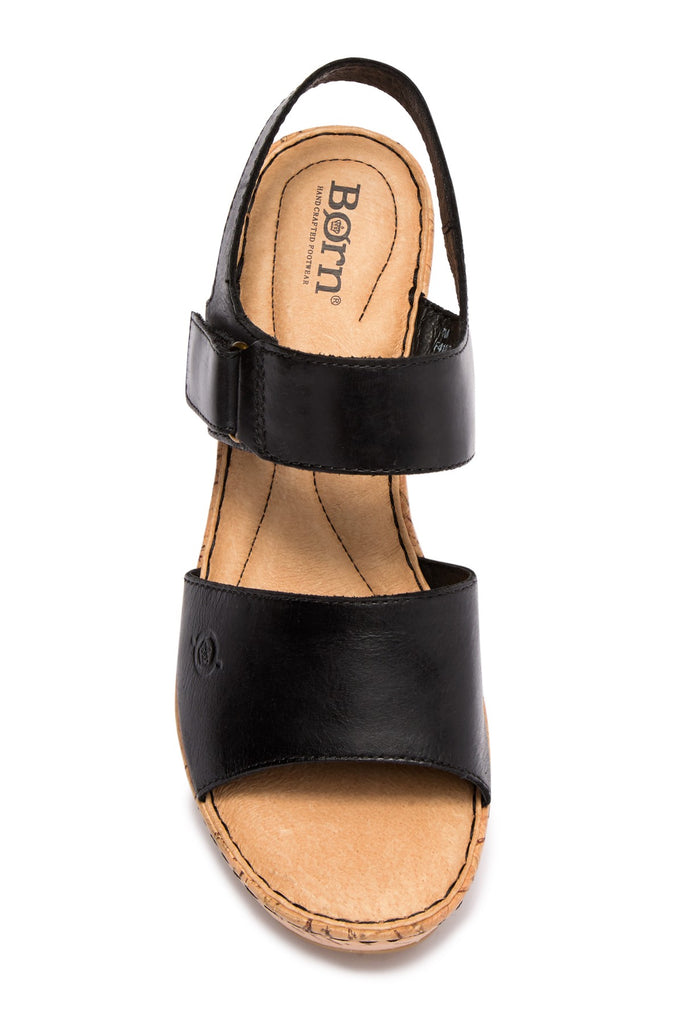 Born Mae Leather Wedge Sandal - PitaPats.com