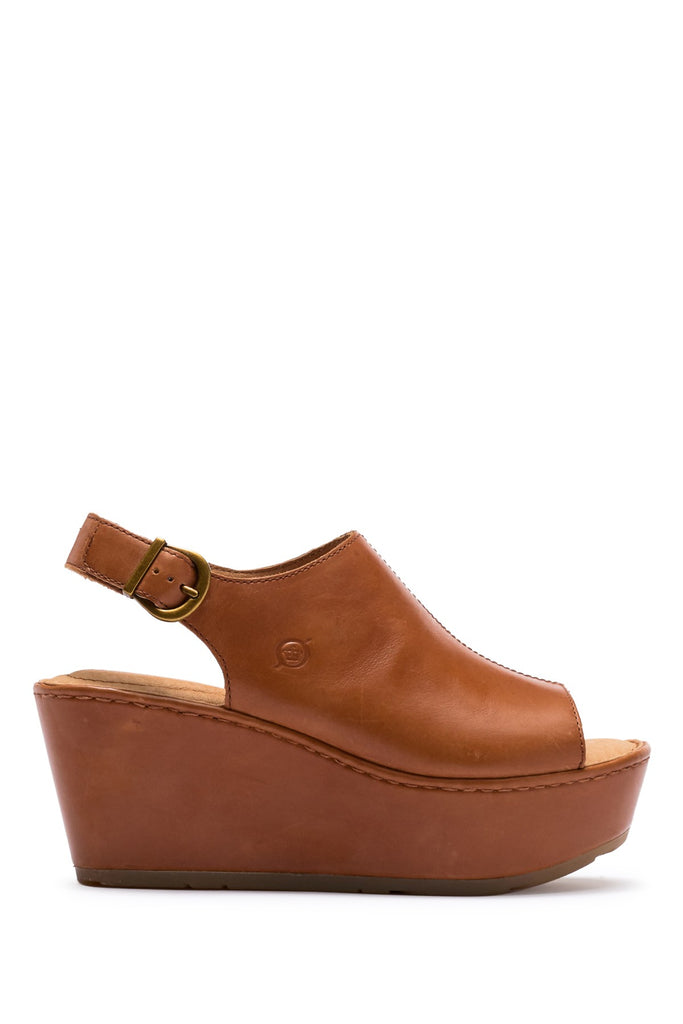 Born Orbit Brown Full Grain Leather Women's Shoes - PitaPats.com