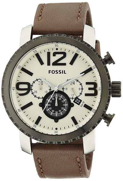 Fossil Gage Analog Off-White Dial Men's Watch - PitaPats.com