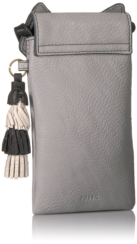 Fossil Raccoon Tech Novelty Leather Crossbody Phone Bag Iron - PitaPats.com