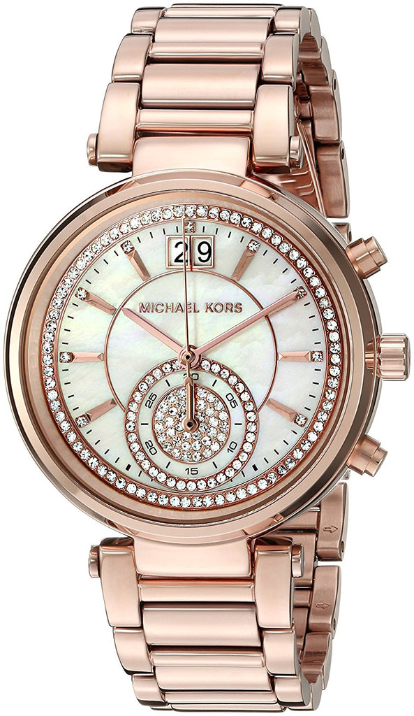 Michael Kors Women's Sawyer Rose Gold-Tone Watch