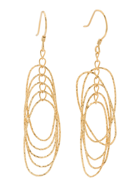 ADRIENNE VITTADINI Gold Plated Sterling Silver Diamond Cut Dangle Earrings