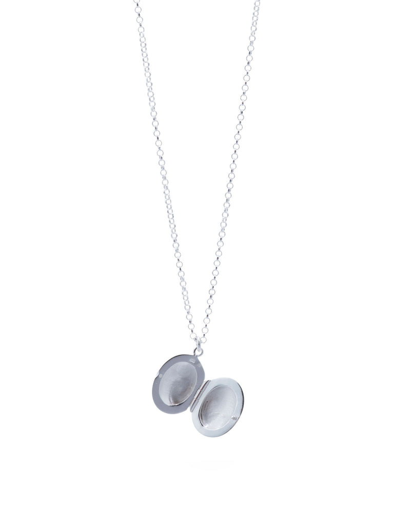ARGENTO VIVO Sterling Silver Etched Locket Necklace - for kids - PitaPats.com