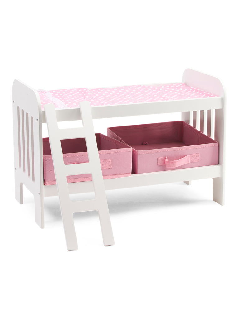 BADGER Kids Doll Bunk Bed With Ladder - PitaPats.com
