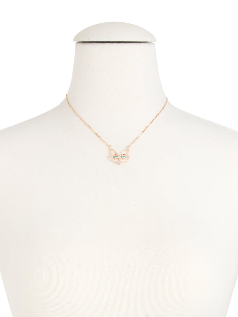BETSEY JOHNSON Crystal Accent Fox Outline Necklace - PitaPats.com