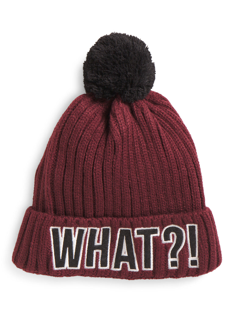 CAPELLI Ribbed Knit Cuff Hat With Pom Pom - PitaPats.com