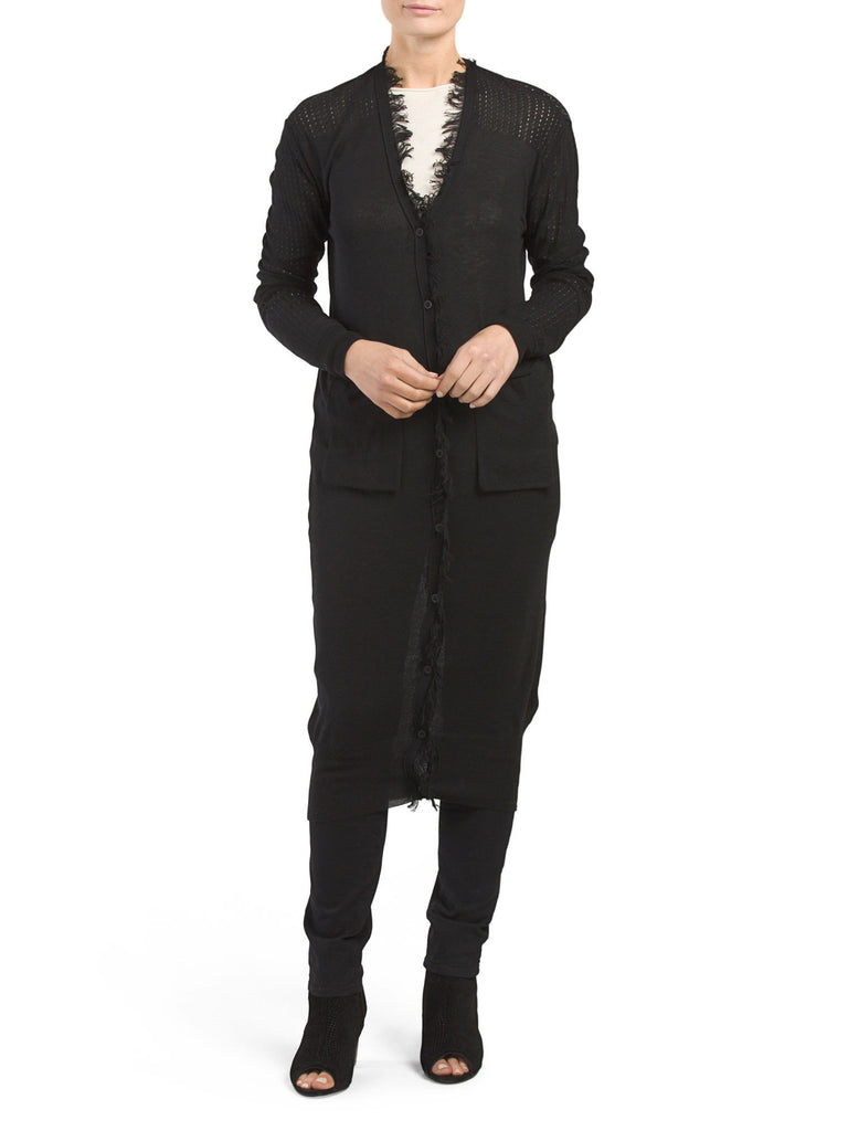 COIN 1804 Fringe Pocket Sweater Duster - PitaPats.com