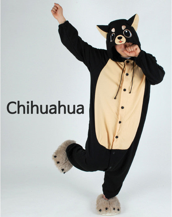 PITaPATs onesie animal jumpsuit costume - long sleeve Chihuahua