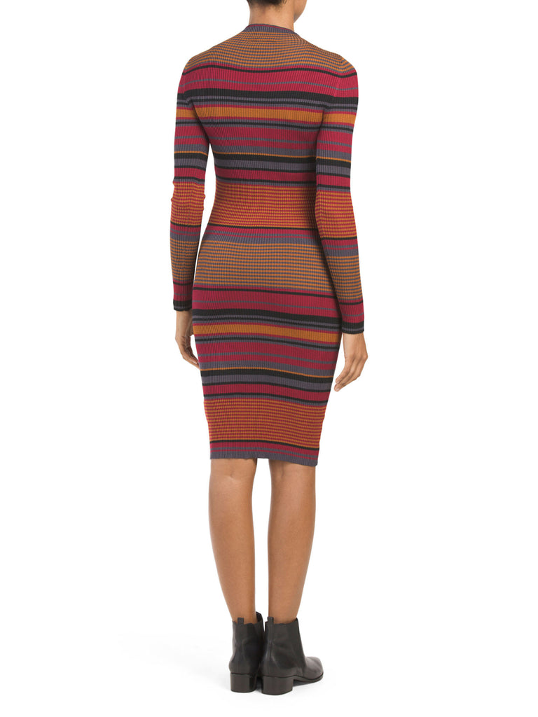 DEREK HEART Juniors Long Sleeve Ribbed Dress - PitaPats.com