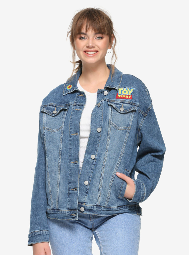 Disney Pixar Toy Story Embroidered Patch Denim Jacket