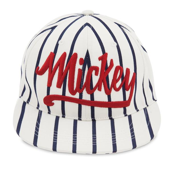 Disney Mickey Mouse Striped Baseball Cap for Adults - PitaPats.com