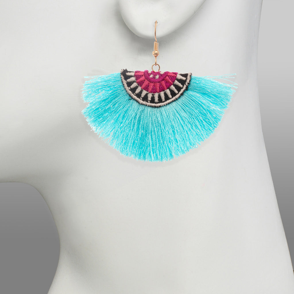 Stella & Ruby Fringe Fan Out Earring (Turquoise)