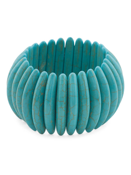 GARDENIA Turquoise Tribal Stretch Bracelet
