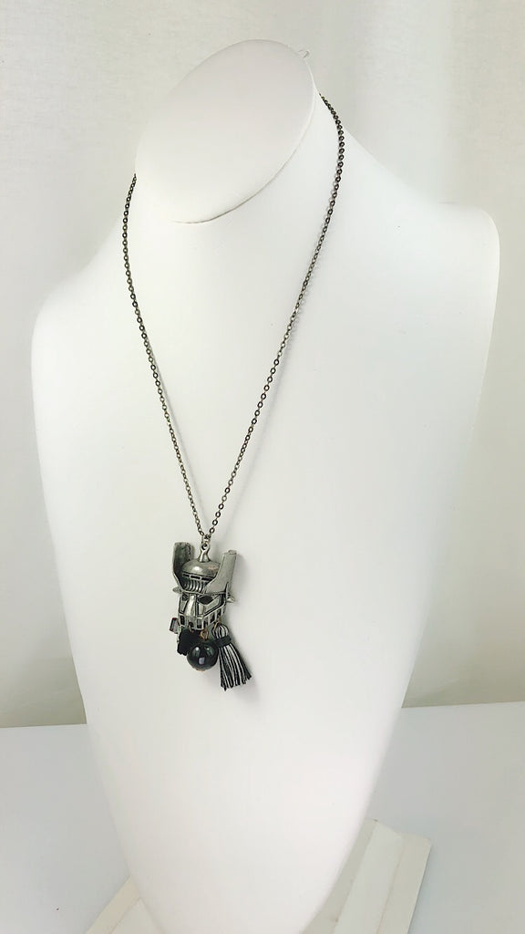 Beatiful Vintage Style Retro Mazinger Z Face Long Necklace - PitaPats.com