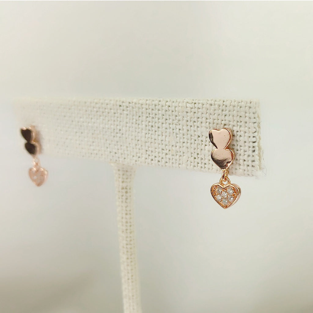 Sterling Silver Tiny Hearts earing
