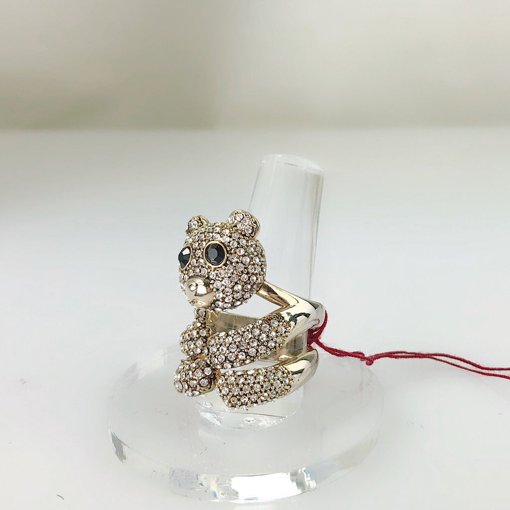 Custom Made Teddy Bear Cocktail Ring - PitaPats.com