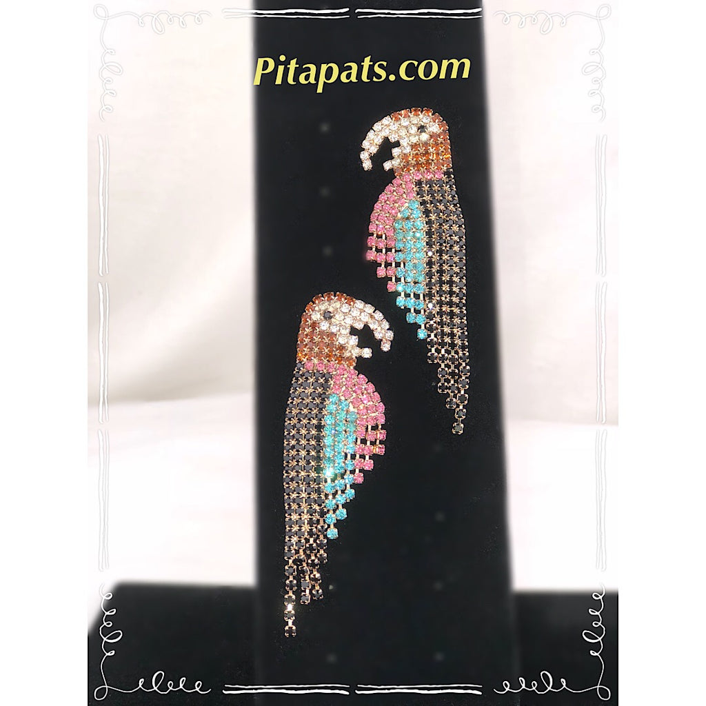 Couture Parrot Mega Sized Earring - PitaPats.com