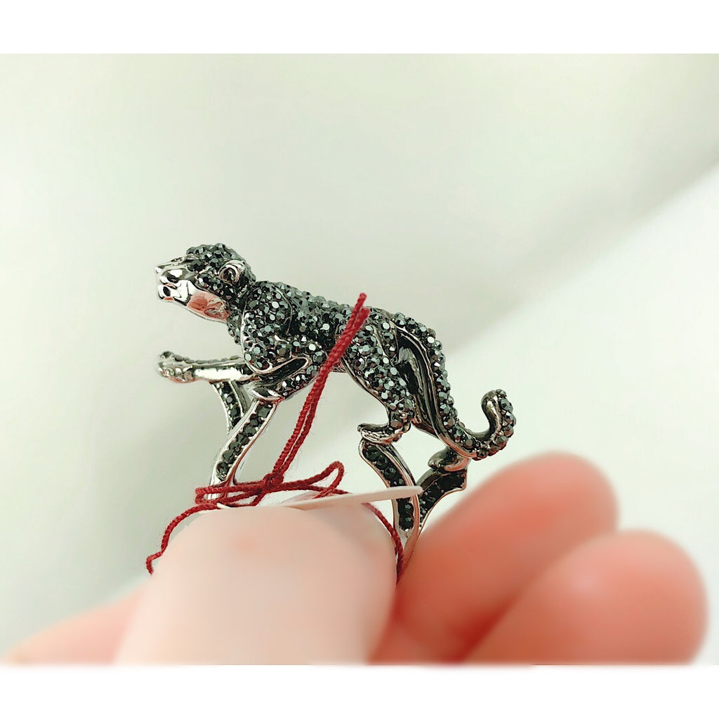 Custom Made Amazing Panther Cocktail Ring - PitaPats.com