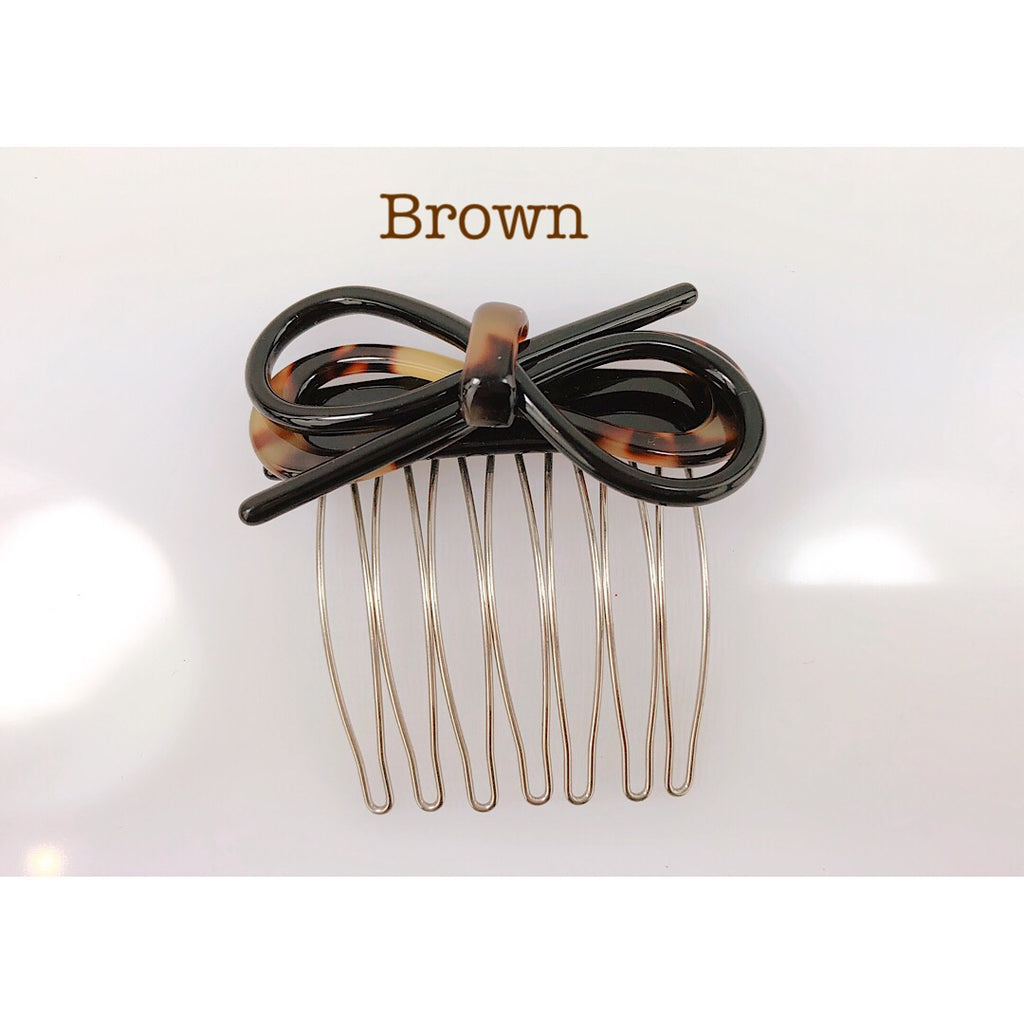 Made in France beautiful Glossy Bow Hair Pin