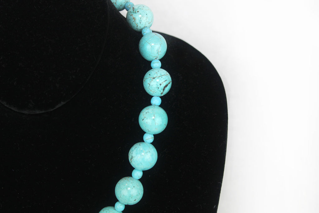 Semi Precious Gem stone handmade in USA Genuine Turquoise Necklace - PitaPats.com