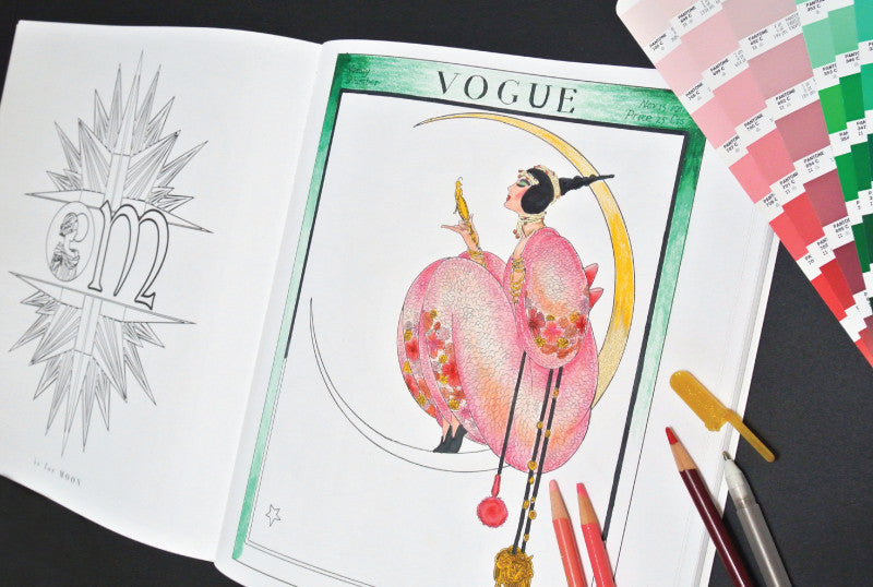 RANDOM HOUSE Vogue Colors A To Z Adult Coloring Book