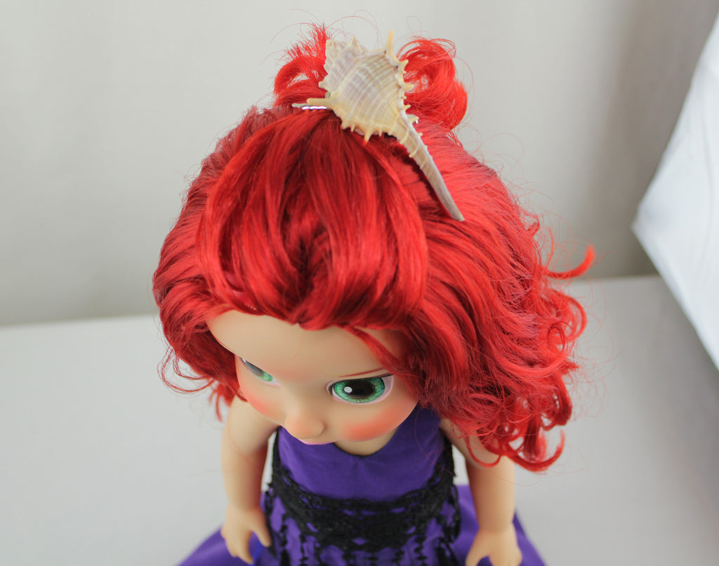 Custom Disney Animator Doll - The Little Mermaid Ariel in Purple Dress - PitaPats.com