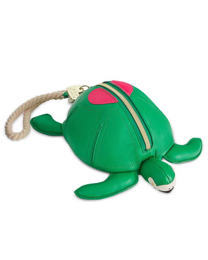 Betsey Johnson Turtle Faux-Leather Wristlet - PitaPats.com