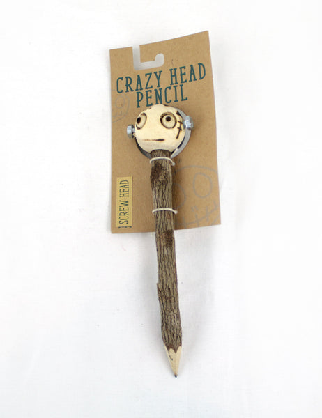 Crazy Head Topper Wooden Pencil with Crazy Doll - Screw Head