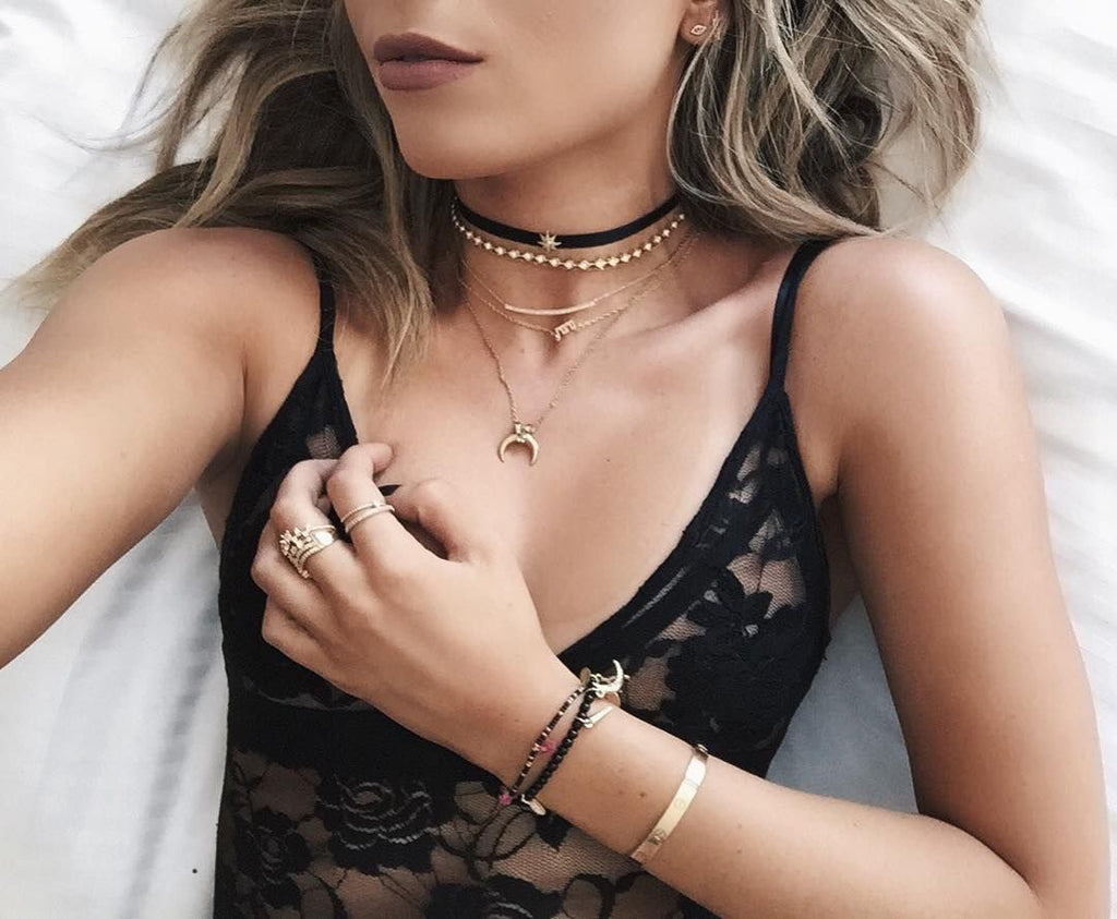 Cara Layered Suede Choker Necklace - PitaPats.com