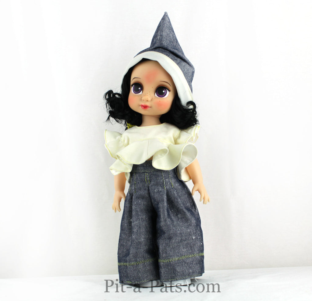 Custom Disney Animator Doll - The Snow White in handmade Dwarf fairy dress - PitaPats.com