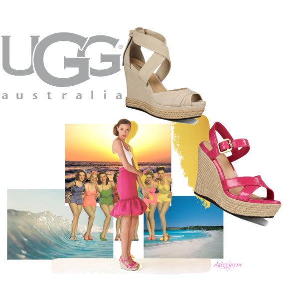 UGG Jackilyn Sandals Women's - Black Patent size 8.5 - PitaPats.com