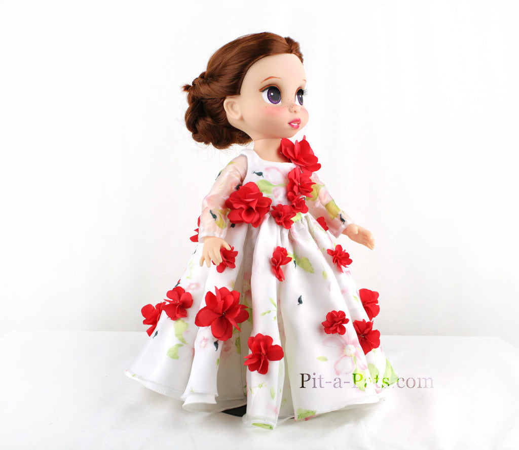 Custom Disney Animator Doll - Beauty and the Beast Belle Celebration wedding Dress - PitaPats.com