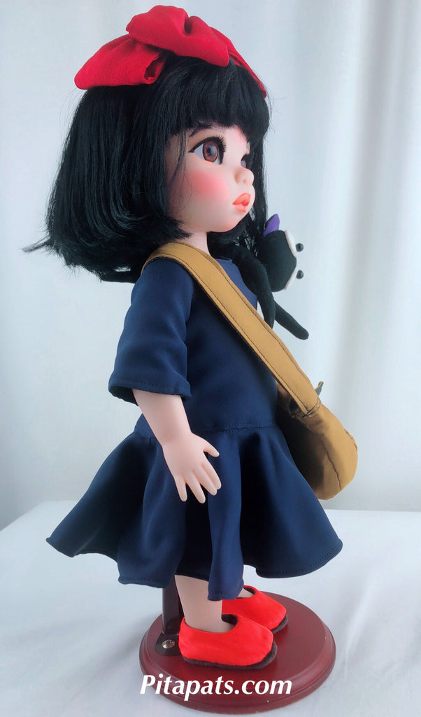 Custom Disney Animator Doll Mulan - The Little Witch Kiki with Jiji
