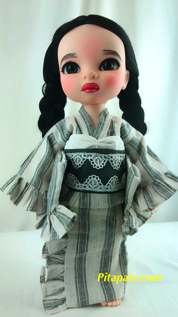 Custom Animator Doll Mulan in Pretty Kimono and Hat
