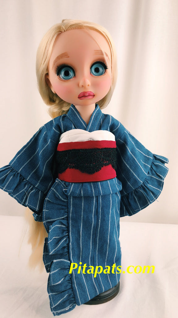 Custom Animator Doll Rapunzel in Pretty Kimono and Hat