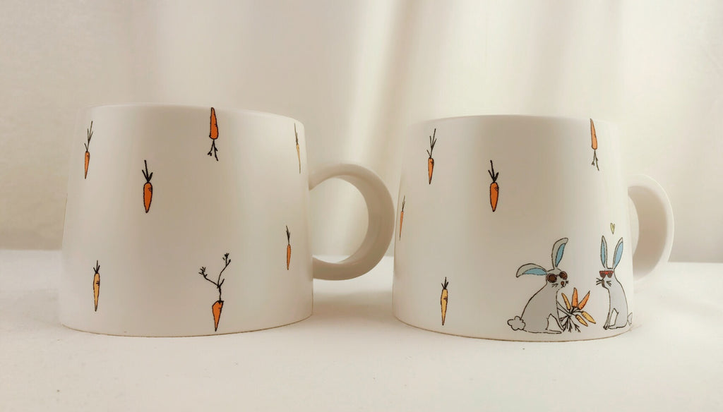 Jack's Carrots By Magenta 2pc Mug Set